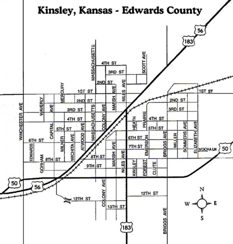 Kinsley City Mapkinsley city