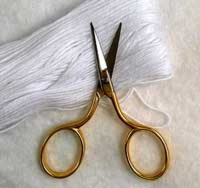 Italian Needleart Scissors  3 1/2 inches