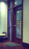 Commercial cherry wood interior door