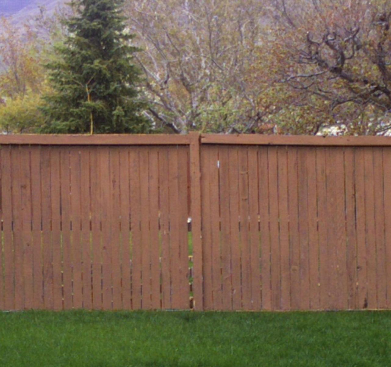 Cedar Wood Fence Refinished