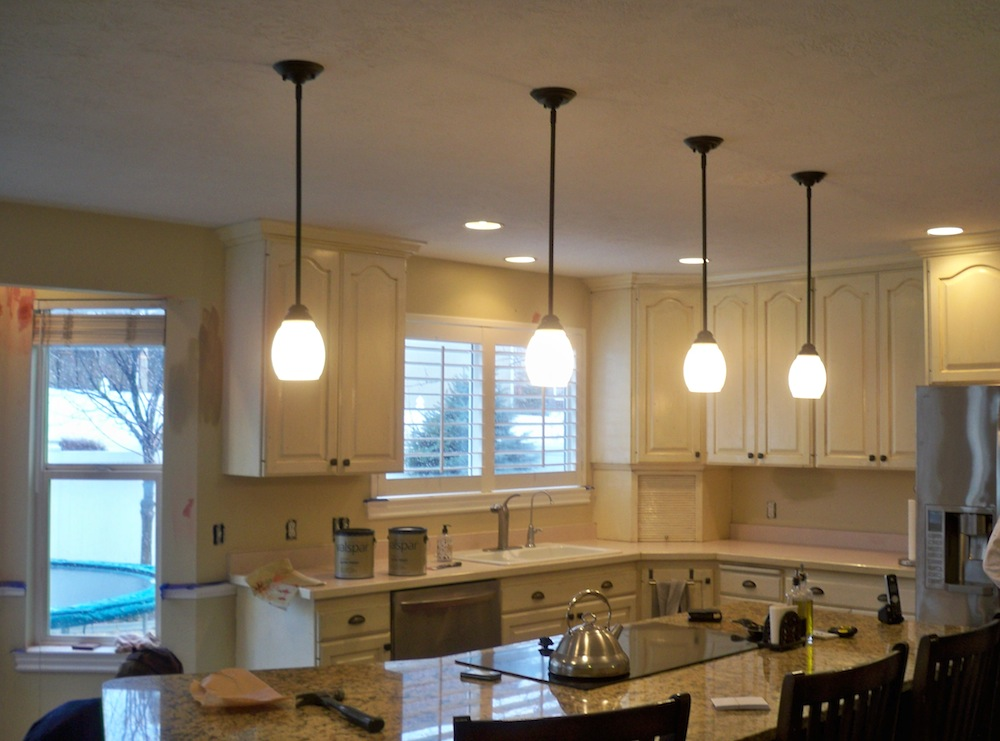 Family Room Colors custom kitchen and family room painting