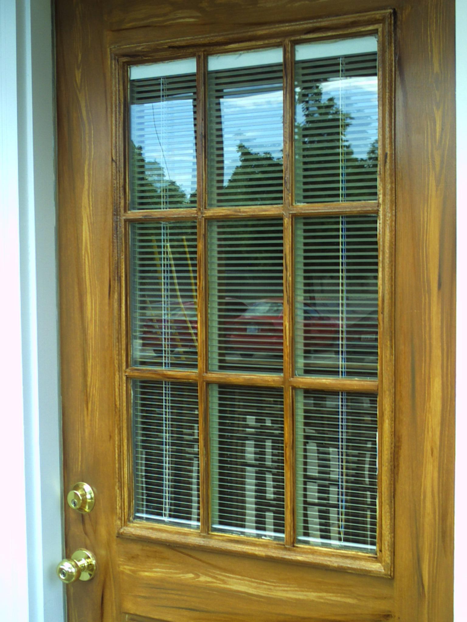 exterior metall deck door