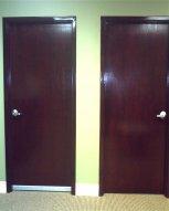 Door along hallway