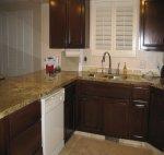 Finished refurbished kitchen cabinets