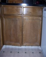 Damaged kitchen cabinet doors