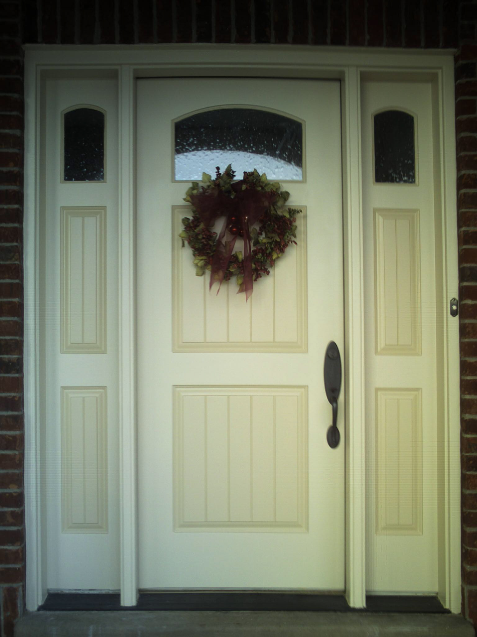 Painted wood entrance door for Front entrance doors