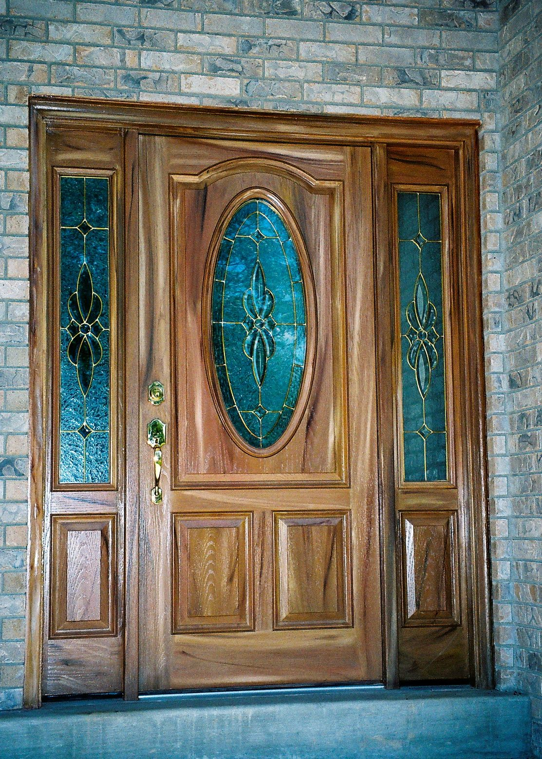 1560 #164C61 Close Up View Of Fiberglass Door With Side Panels image Fiberglass Doors 41431113
