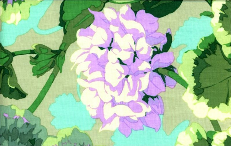 Martha Negley - Geranium - MN-38-GREEN