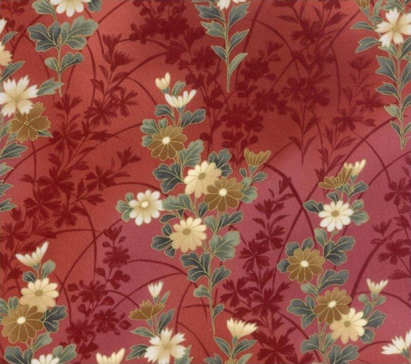 Hoffman Fabrics-Keiko's Garden-HF-G9102-394G-MERLOT