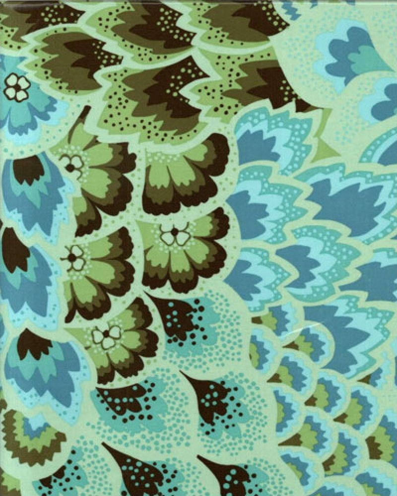 Amy Butler-Soul Blossoms Laminate-Peacock Feathers-OCAB05-Turquoise