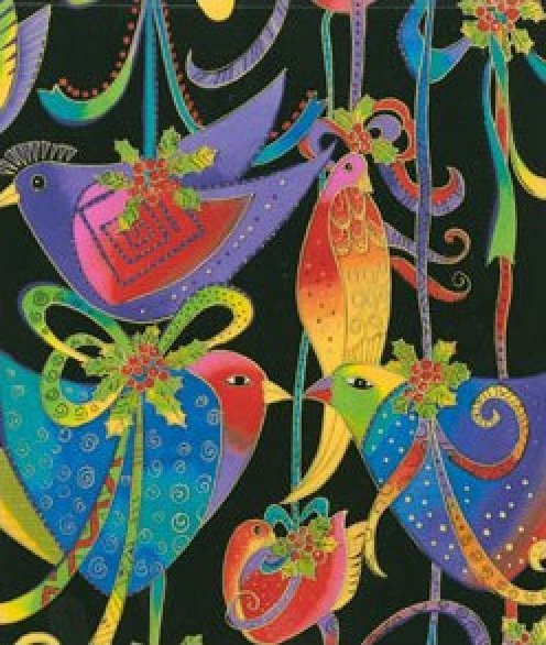Clothworks-Laurel Burch-Holiday Celebration-LB-Y0802-3M