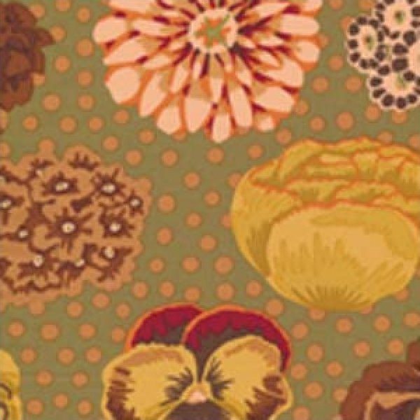 Kaffe Fassett-Big Blooms-GP91-BROWN
