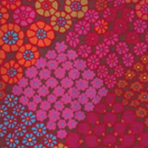 Kaffe Fassett-Tile Flowers-KF-GP125-RED