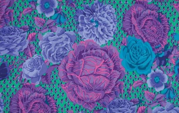 Kaffe Fassett-Cabbage Rose-Blue
