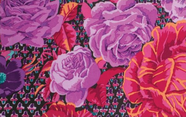 Kaffe Fassett-Cabbage Rose-Wine