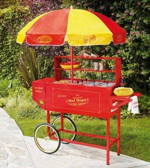 Large Hot Dog Cart and Umbrella | Overstock.com
