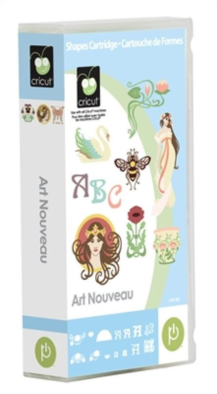 Cricut Art Nouveau Cartridge Take a step back to admire the truly elegant
