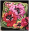 needlepoint pillow kit poppies