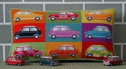Kirk & Hamilton needlepoint kit mini cars