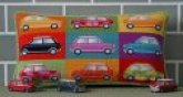 Kirk & Hamilton needlepoint pillow kit Pop Art Mini Cars