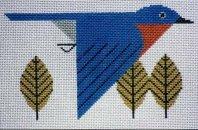 Charley Harper needlepoint Bluebird