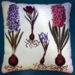 needlepoint kit hyacinths and crocus