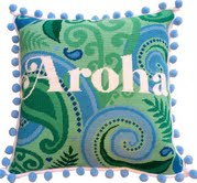 Aroha contemporary needlepoint kit
