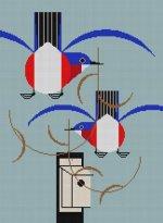 Charley Harper needlepoint
