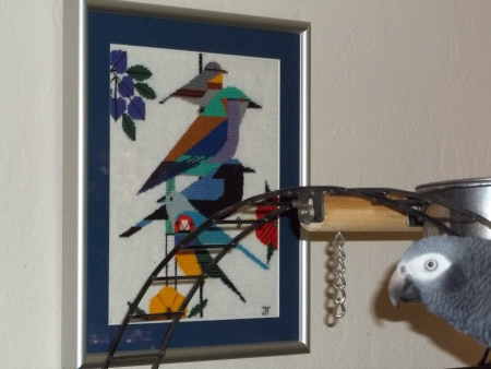 charley harper rainforest birds needlepoint