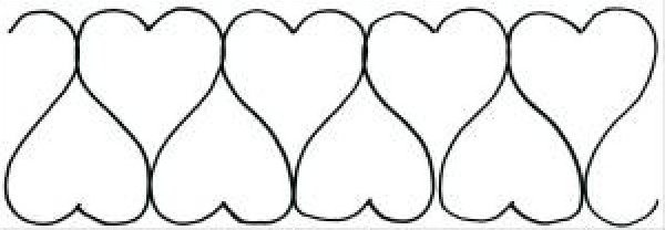 Free Heart Quilting Stencils : Quilting Patterns For Borders images