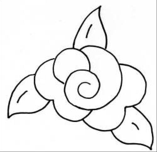 Rose Template Stencil Quilt pattern stencil rose 5