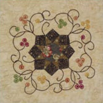 Mountain Blossoms Quilt Pattern by  Cindy Blackberg Handwork in the Smokies
