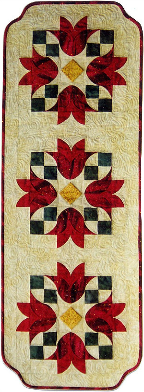 Tulip Bells Table Runner Pattern - Southwind Designs - SWD-404