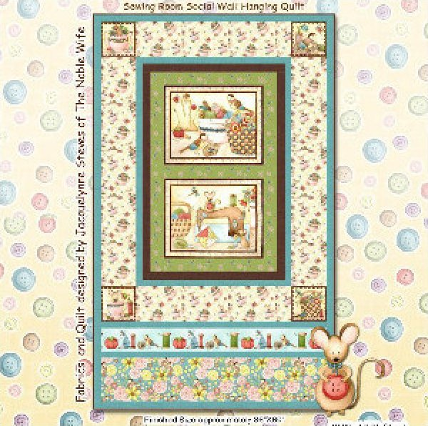Sewing Room Social-Quilt Kit- 36 x 60 by Jacquelynne Steves of the Noble Wife for Henry Glass & Co