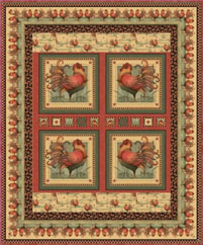 Country Charm Quilt Kit-56
