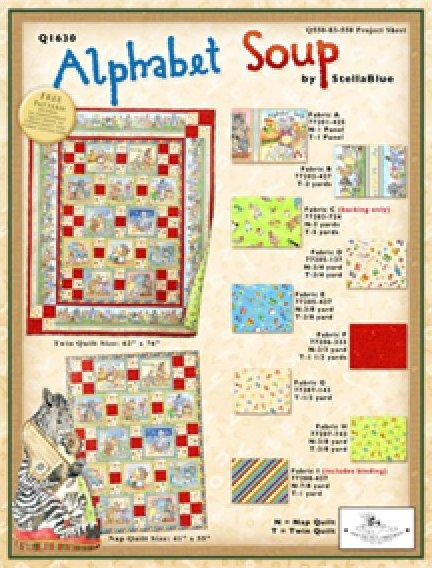 Alphabet Soup Nap Quilt 41 x 55 by Stella Blue for South Seas Imports Fabrics - K10516