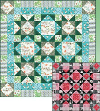 Spring Fever Quilt Kit  56 x 56 - designed by Janet Houts for Blank Quilting - F10323
