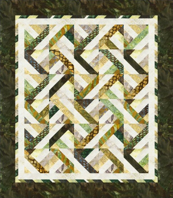 Dream Weaver Throw Kit 56 x 64 - for Robert Kaufman - Cozy Quilt Designs - K10535