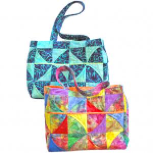 Curvy Pinwheel Bag Pattern - 14x7x12high - SWD-702-CP
