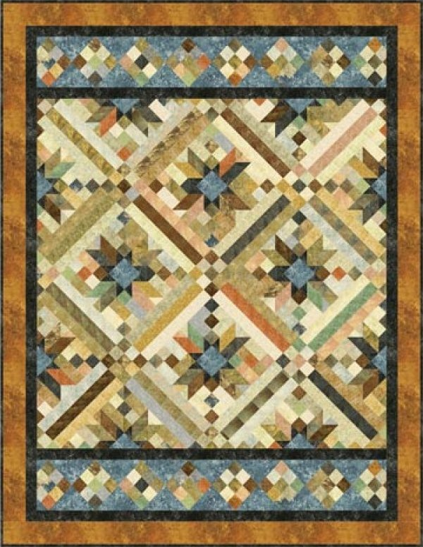 Smokey River Quilt Kit-76x 97