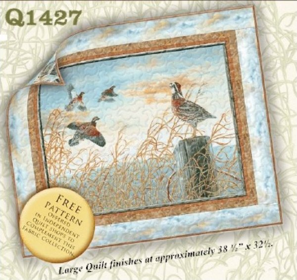 Quail Run Wallhanging - 38.5 x 32.5 - by South Seas Imports -Q1427