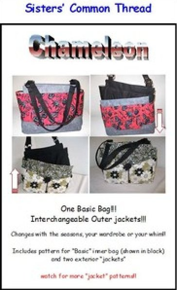 Chameleon Bags pattern by Sister's Common Threads - W109