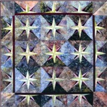Star Struck throw pattern - 2 sizes - foundation piecing without paper - SND442