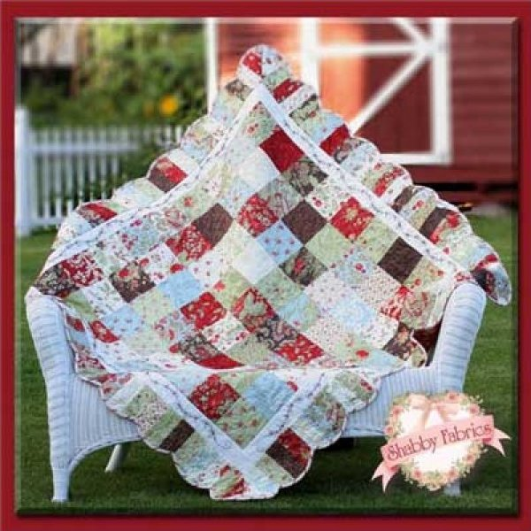 Holiday Charm Quilt 55 square - by Shabby Fabrics