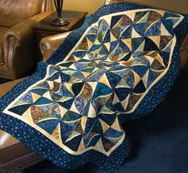 Motion Commotion Quilt Pattern 46x64 0r 68x86 by Suzanne McNeill - No. 807