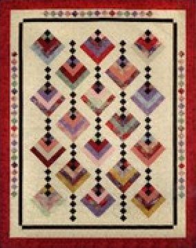 Hanging Garden Quilt - Throw, Twin, Queen sizes - by Cozy Quilt Designs - CDQ01011