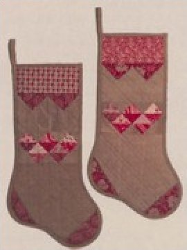 Prairie Point Stocking  Pattern by Button Stitch Designs - 9 3/4x 19 - #158