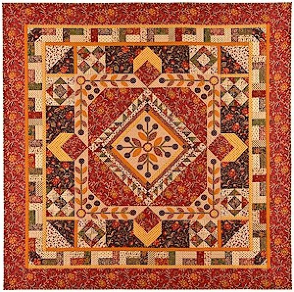 Chestnut & Vine Quilt Kit 82x82 - by Faye Burgos for Marcus Fabrics - K10577