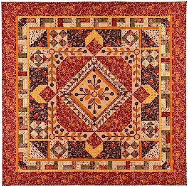 Chestnut & Vine Quilt Kit 82x82 - by Faye Burgos for Marcus Fabrics - K10577