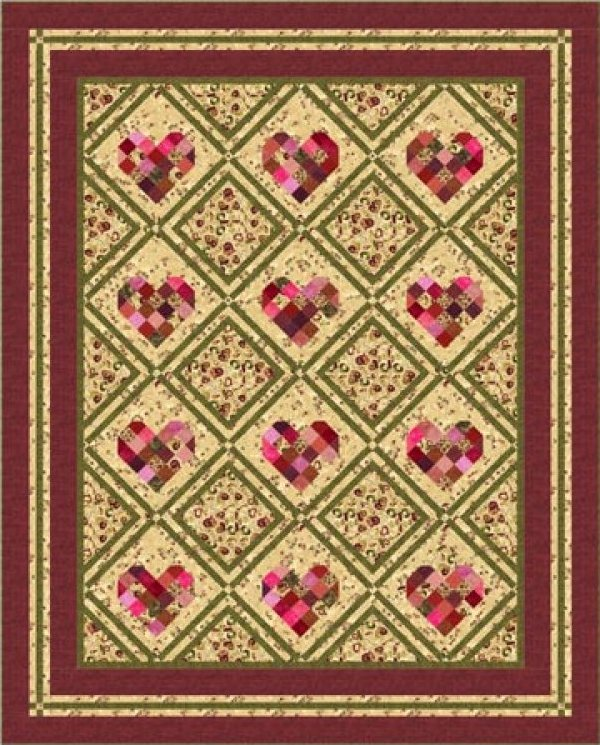 Heart Sweet Heart 64x85 for Northcott Fabrics - K10596